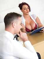 Busty Boss Fucked Hard free photos and videos on DDFNetwork.com